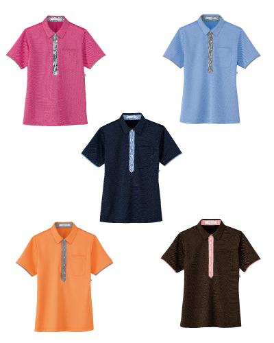 HM-2819 ハートグリーン(HEARTGREEN) 半袖ポロシャツ男女兼用  2016-17新商品