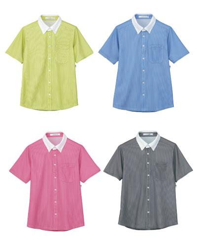 HM-2839 ハートグリーン(HEARTGREEN) 半袖ニットシャツ 男女兼用  2016-17新商品