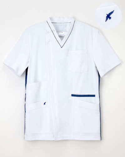 LX-4087 ナガイレーベン(nagaileben)  男子スクラブ  刺繍入り '17新商品