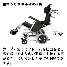 困難な座位姿勢も瞬時に調整ができます。