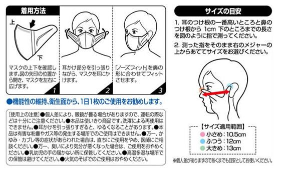 超立体マスク かぜ・花粉用の使い方