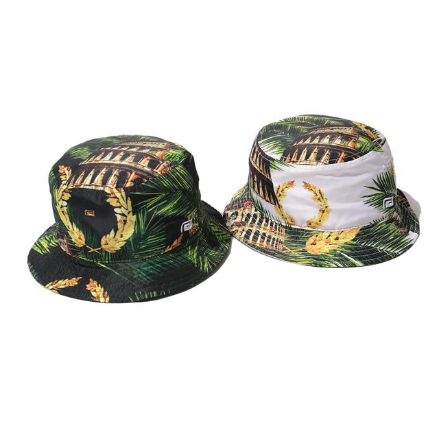 PALM LEAF COLOSSEUM BUCKET HAT