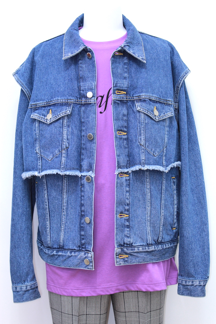 JOHNLAWRENCESULLIVAN 1A014-0318-42 FAKE LAYERED DENIM JACKET