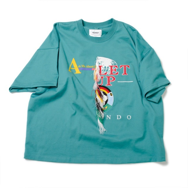 doublet/ダブレット DOUBLE-FACED EMBROIDERY T-SHIRT