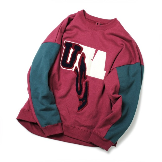 doublet/ダブレット DROP PATCH EMBROIDERY SWEAT SHIRT