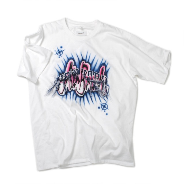 doublet/ダブレット FRINGE EMBROIDERY WITH AIR BRUSH T-SHIRT