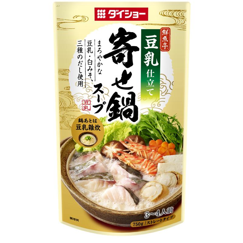 ダイショーの鍋スープ 【新商品】 鮮魚亭 寄せ鍋スープ 豆乳仕立て 10個セット