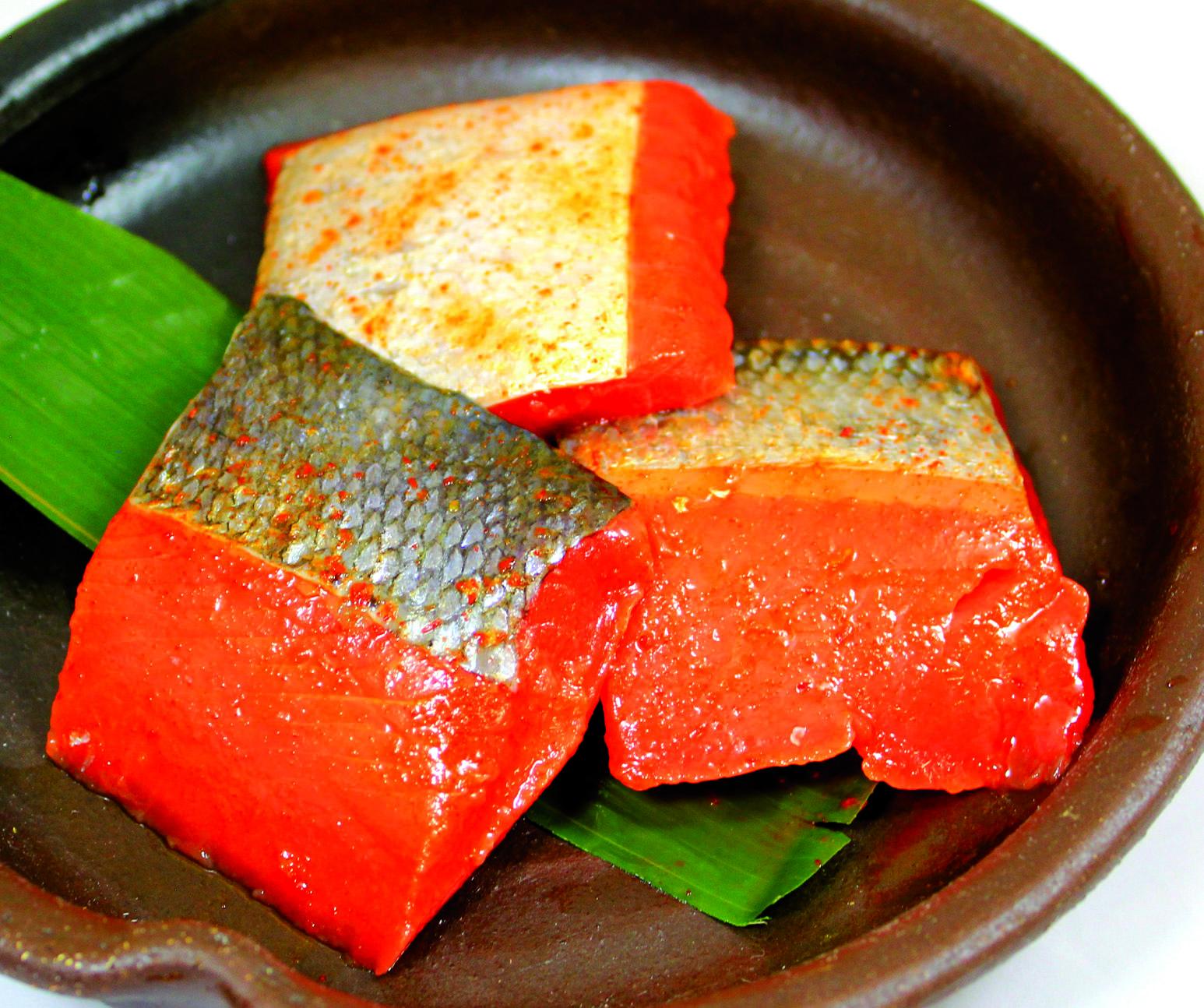 ひとくち紅鮭辛味漬