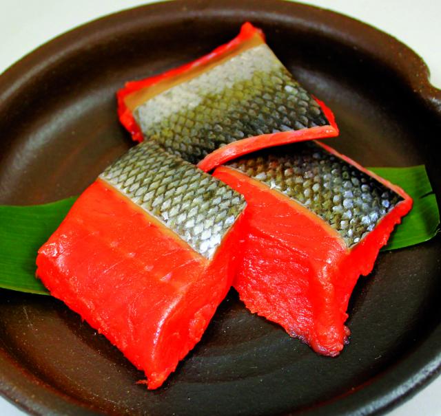 ひとくち紅鮭塩漬け