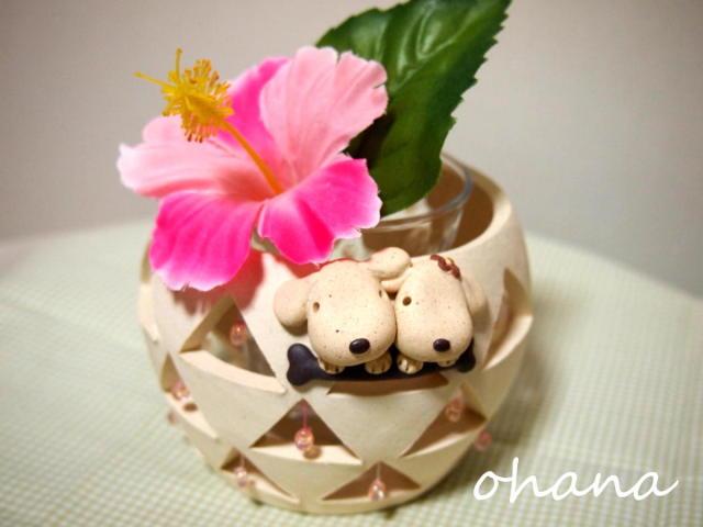 ビーズ花器