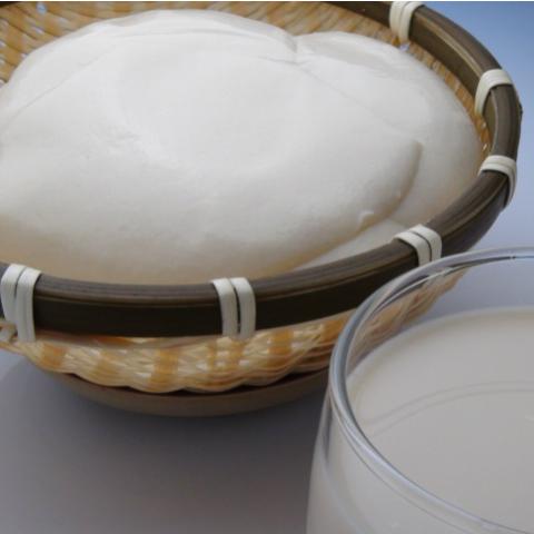 竹ざる豆腐、豆乳