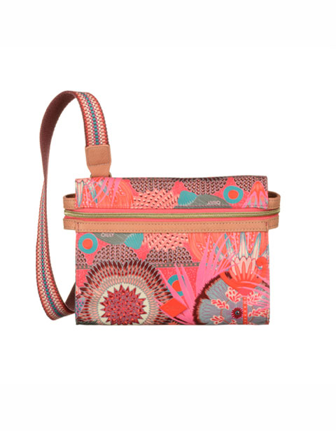 【OES6116-222】Oilily S Flat Shoulder Bag Raspberry