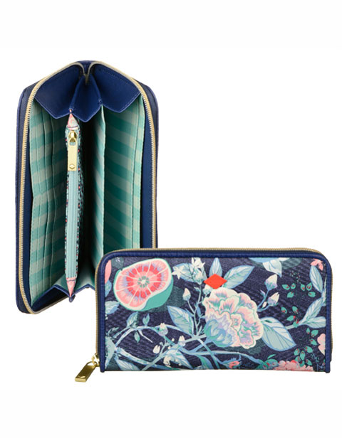 【OES6178-547】Oilily L Zip Wallet Lagoon Flower