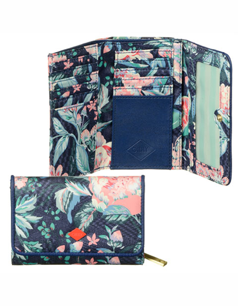 【OES6180-547】Oilily S Wallet Lagoon Flower