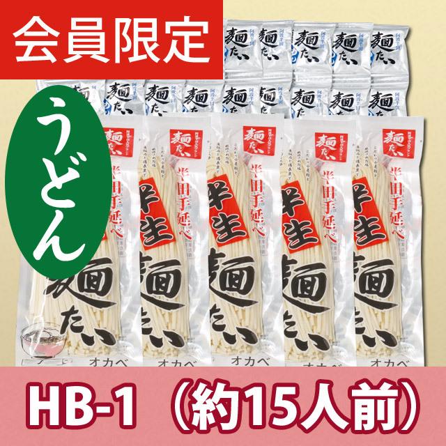 【会員限定】【徳用】半生手延うどん15人前【HB-1】