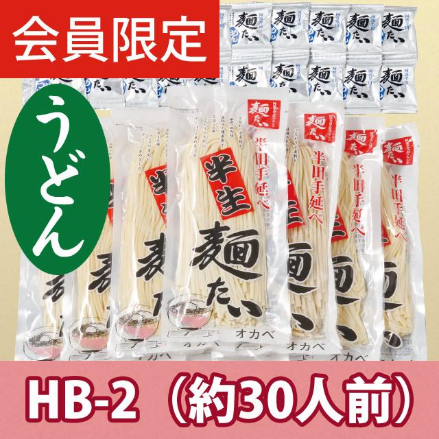 【会員限定】【徳用】半生手延うどん30人前【HB-2】