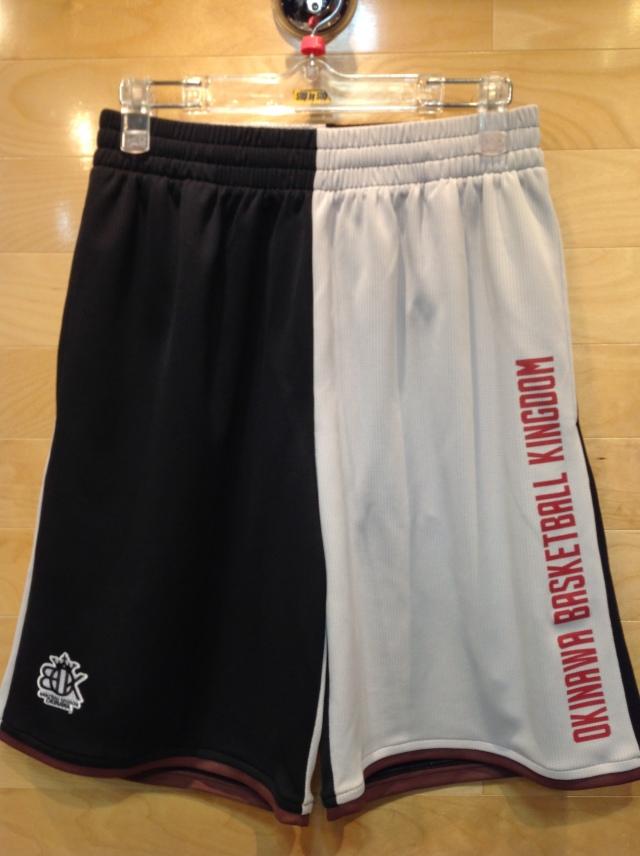 (OBK-601)OKINAWA BASKETBALL KINGDOM ツートンカラーショーツ(ブラック/グレー)ポケット付き
