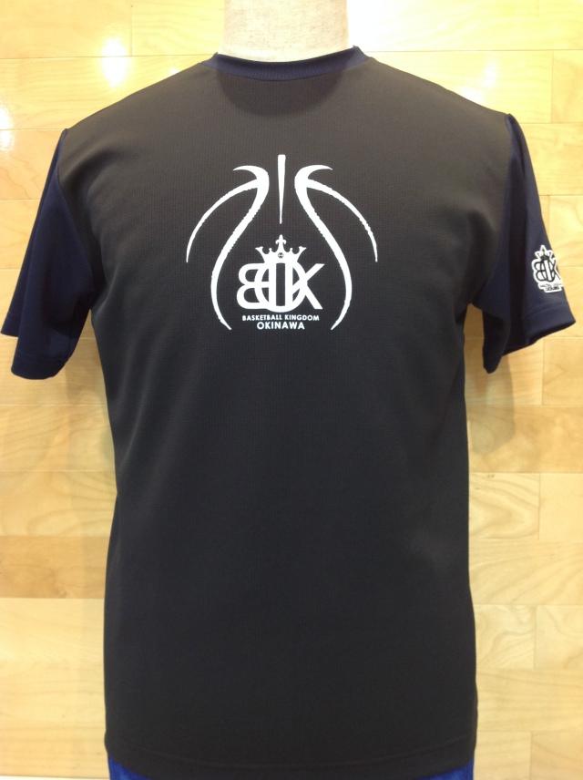 (OBK-601)OKINAWA BASKETBALL KINGDOM ツートンカラーTシャツ(ブラック/ネイビー)