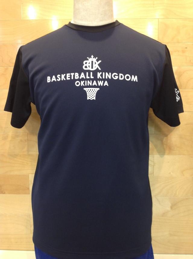 (OBK-602)OKINAWA BASKETBALL KINGDOM ツートンカラーTシャツ(ネイビー/ブラック)