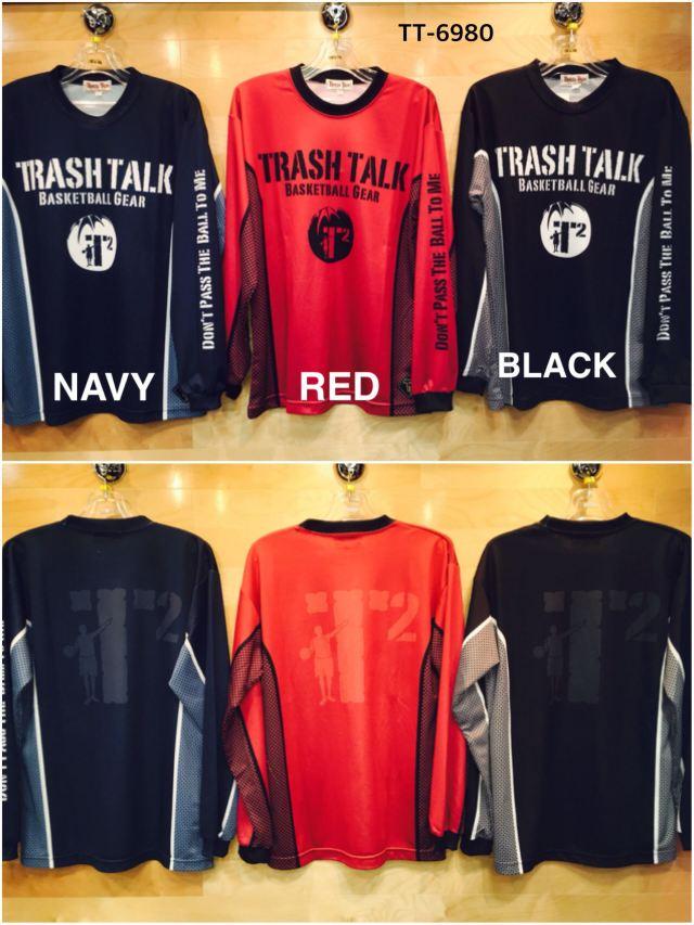 (TT-6980) TRASH TALK 昇華ロングスリーブシャツ バスケットボールウェア