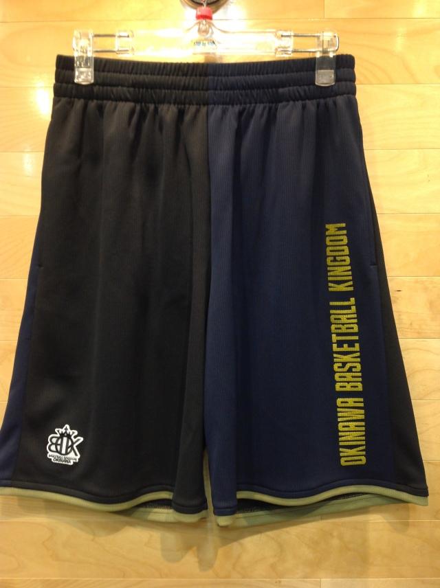 (OBK-605)OKINAWA BASKETBALL KINGDOM ツートンカラーショーツ(ブラック/ネイビー)ポケット付き