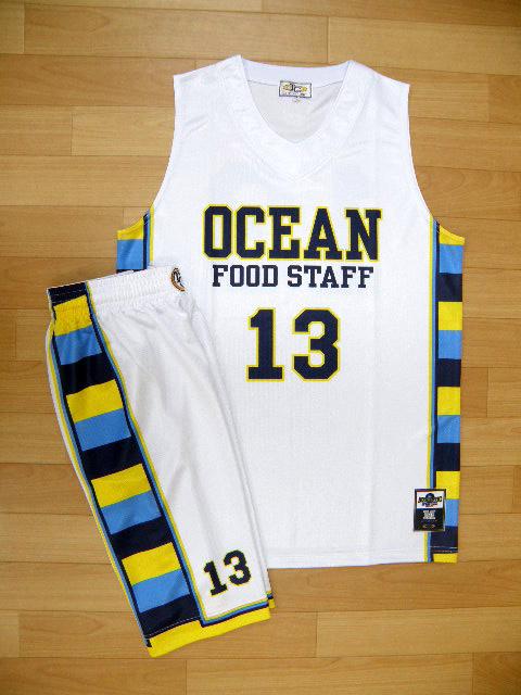 【デザインサンプル】 海洋食材 (クラブチーム) 昇華ユニフォーム(淡色)