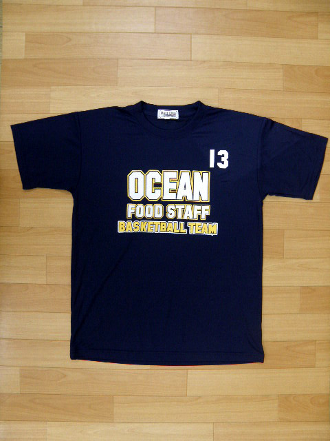 【デザインサンプル】 海洋食材 (クラブチーム) Tシャツ