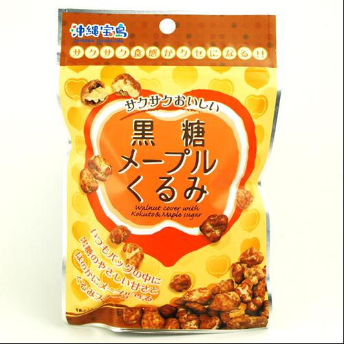 沖縄宝島 黒糖 メープル くるみ 40g4582112265455