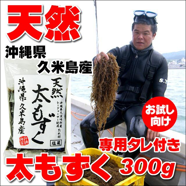 沖縄県久米島産 天然太もずく 300g 専用タレ付き