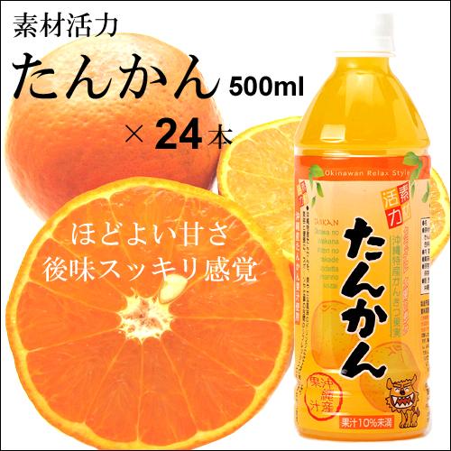 沖縄宝島 素材活力 たんかん 500ml × 24本