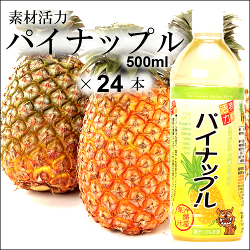 沖縄宝島 素材活力 パイナップル 500ml × 24本