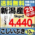 28年産新潟県産こしいぶき 10kg(5kg×2)
