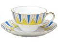 ■予約■ 100周年カウントダウン碗皿シリーズ第1弾 「アール・デコ」カップ&ソーサー