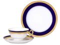 ロイヤルブルークラウン(瑠璃エンボス) カップ&ソーサー・20cmデザート皿
