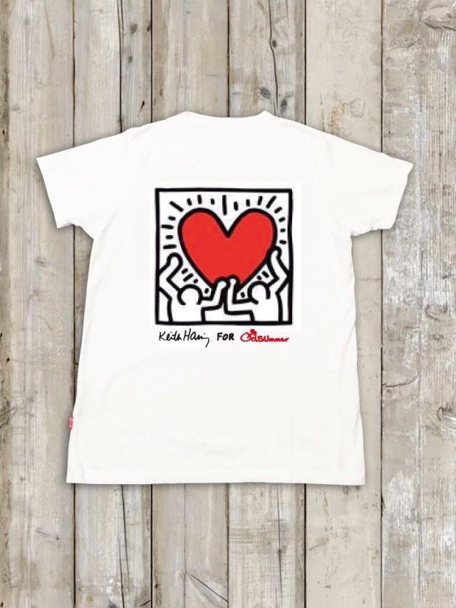 Keith Haring(キース・ヘリング)コラボTシャツ バックプリント(ハート)