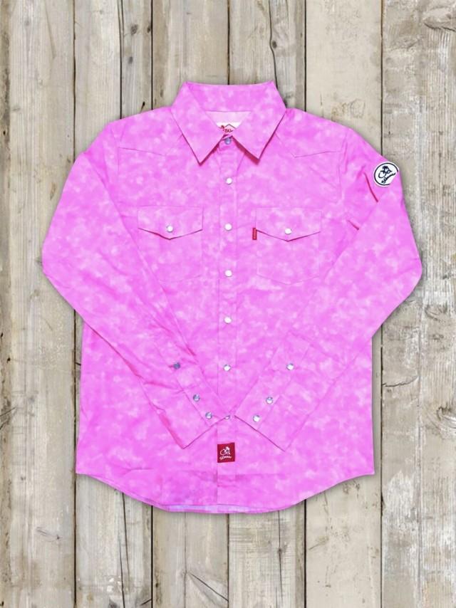 長袖ウエスタンシャツ(ピンク)