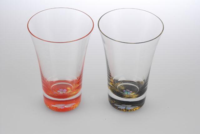 螺鈿(らでん)杯クリスタル桜