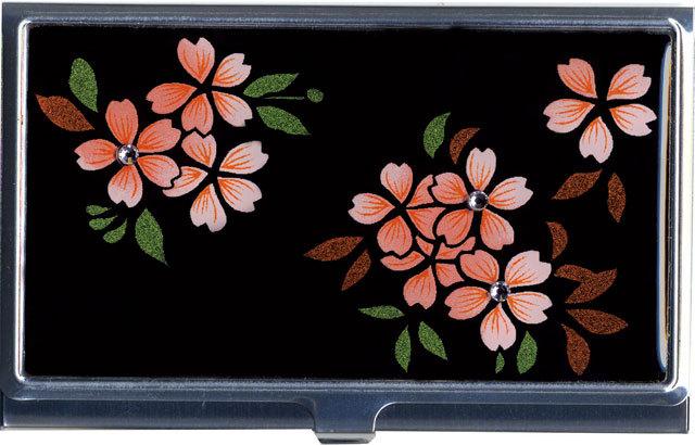 蒔絵カードケース スワロフスキー桜
