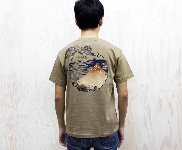 北斎Tシャツ‐凱風快晴(バック)