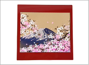 蒔絵 富士山と桜 ステーショナリーBセット(マウスパッド)