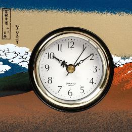 葛飾北斎黒富士屏風型置き時計