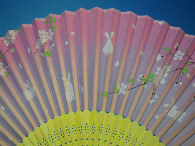 シルク扇子 桜