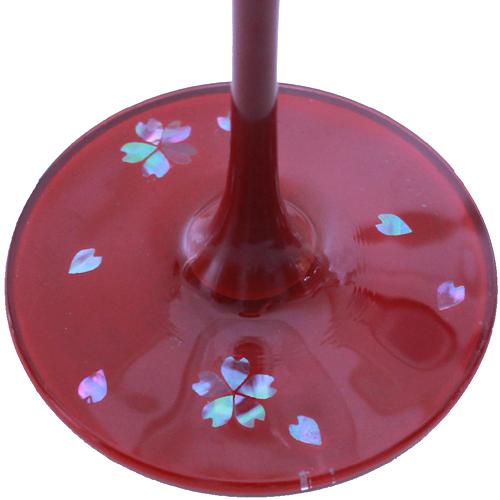 ワイン桜赤 柄の部分