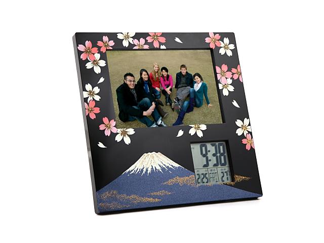 フォトクロック富士に桜
