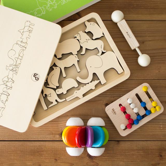 出産祝い木のおもちゃセット