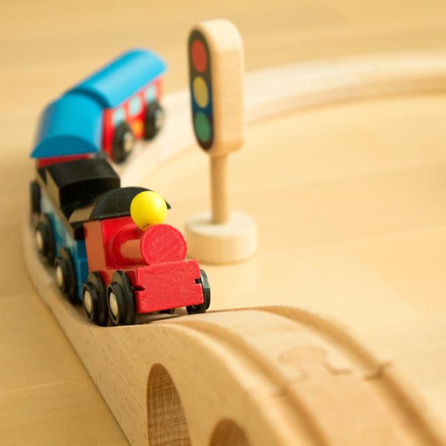 鉄橋の上の汽車