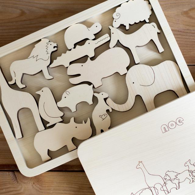 動物積み木noeノエ 【MastoroGeppetto マストロジェペット】  日本のデザイナー・匠が作る良質木製玩具【積み木おもちゃ】【日本製】【出産祝いおすすめ】