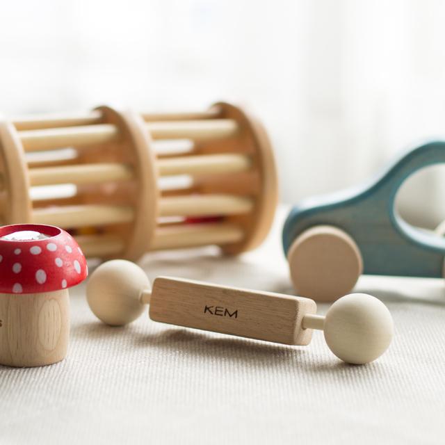 【出産祝いギフト-3】 くまさんのりんごコロコロセット 木のおもちゃオリジナルギフト