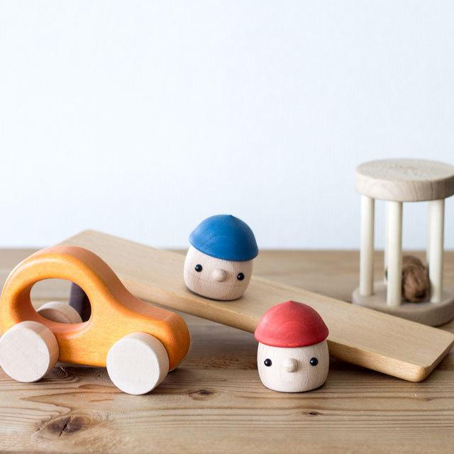 【出産祝いギフト-6】 日本製どんぐりころころセット(どんぐり2個入り) 木のおもちゃオリジナルギフト