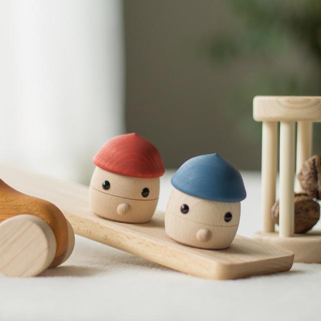 【出産祝いギフト-6】 日本製どんぐりころころセット 木のおもちゃオリジナルギフト